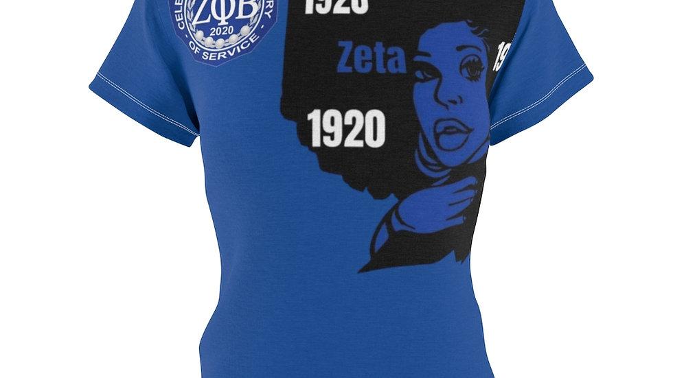 Zeta Women's AOP Cut & Sew Tee