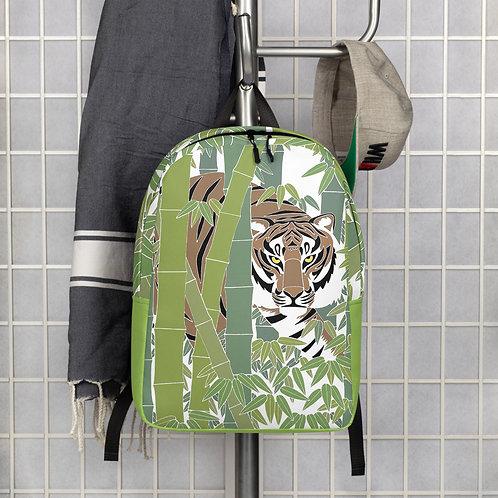 Bamboo Tiger Minimalist Backpack