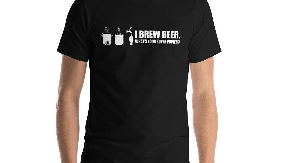 I BREW BEER Short-Sleeve Unisex T-Shirt