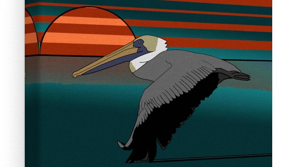 Skimming on Tarpon Bay at Sunset Canvas Gallery Wraps