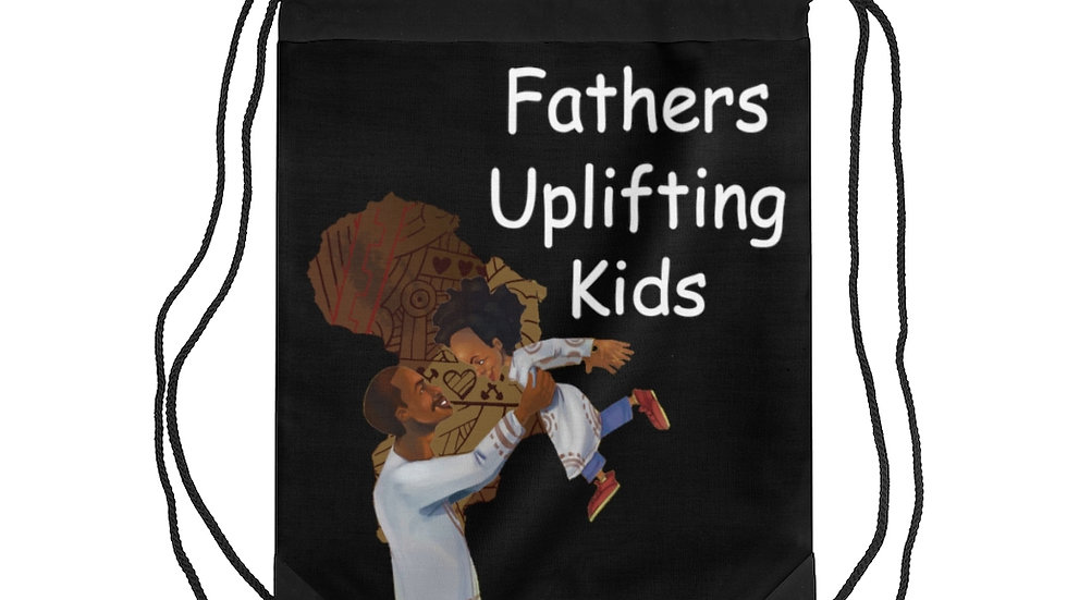 Fathers uplifting Kids Drawstring Bag
