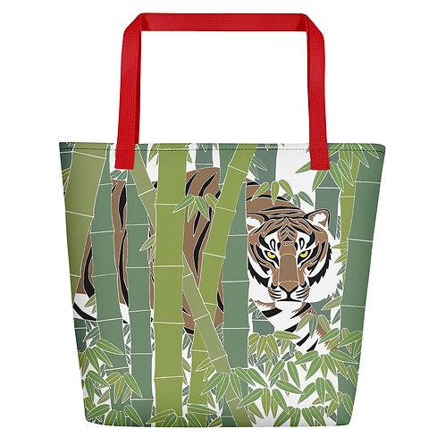 Bamboo Tiger Beach Bag