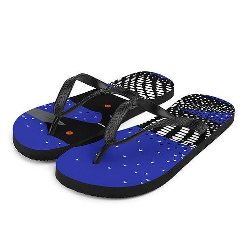 Blue Loons Flip-Flops