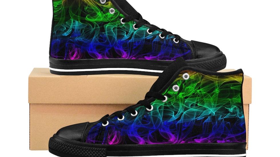 Rainbow Smoke Women's High-top Sneakers