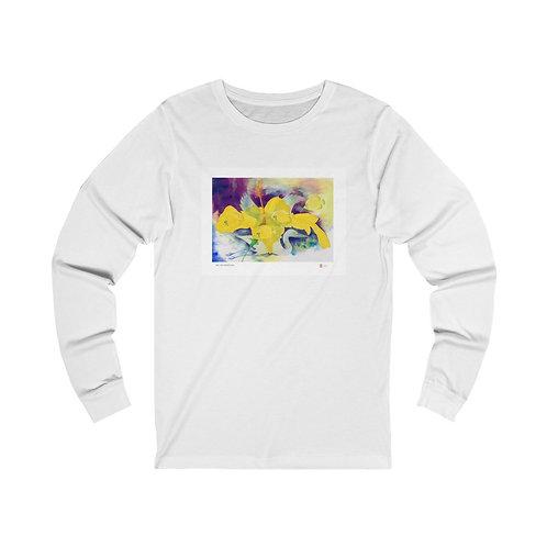Yellow Hibiscus Unisex Jersey Long Sleeve Tee