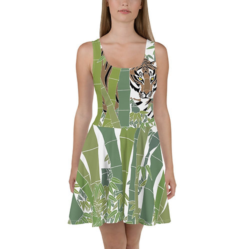 Bamboo Tiger Skater Dress