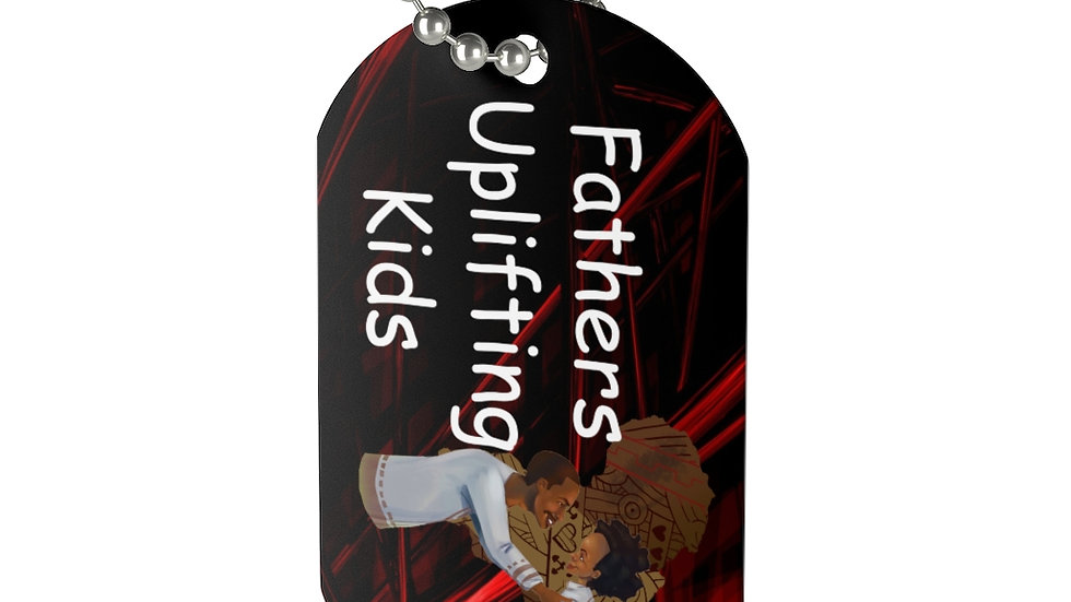Father's Uplifting Kids Dog Tag