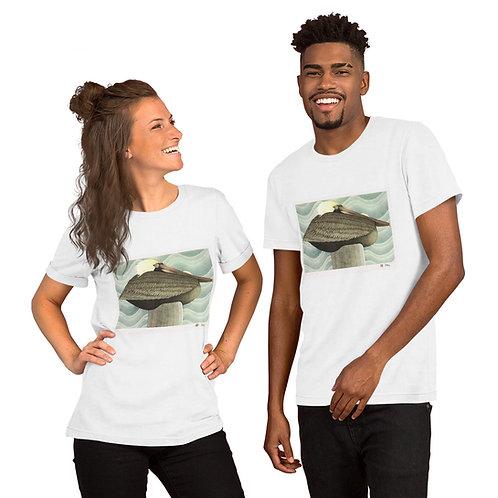 Brown Pelican Short-Sleeve Unisex T-Shirt