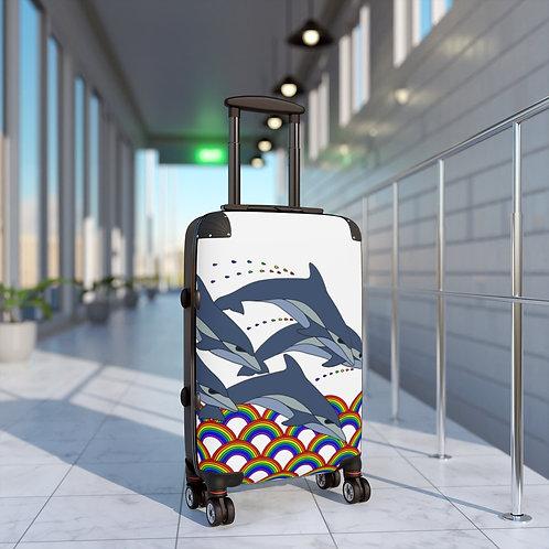 Rainbow Waves Cabin Suitcase