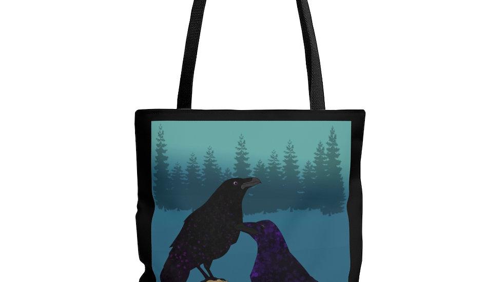 Dos Ravens by Amy Matsumoto Tote Bag