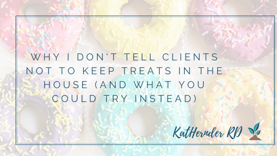 Why I don't tell clients not to keep treats in the house (and what you could try instead)