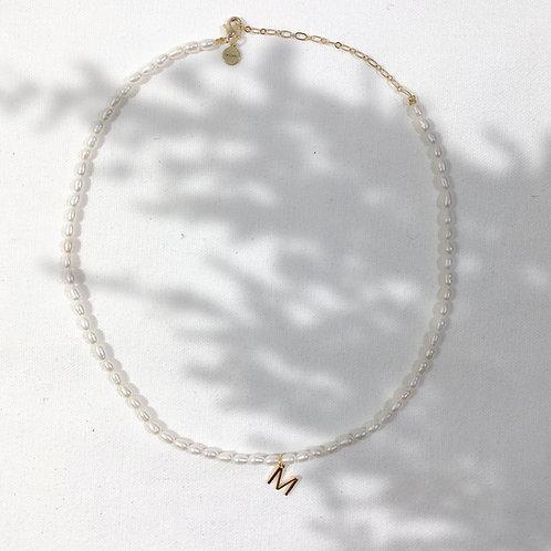 Personalisierte Letter Perlenkette