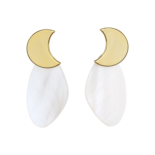 Moonlight on the shell Earring