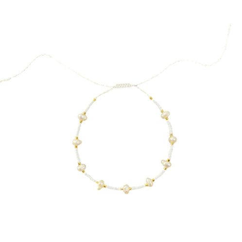 "weißes Armband ""Pearls"""