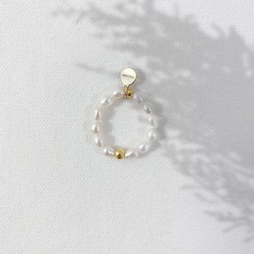 "RING ""PEARL DOT"""