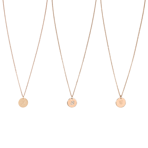 MY STORY – MY LETTER / LETTER – NECKLACE roségold