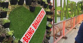 """बीइंग भगीरथ ने शहरी विकास मंत्री को भेंट किया """"आई लव हरिद्वार"""""""