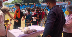 COVID-19: बीइंग भगीरथ ने 59वें दिन भी प्रवासीयों को पहुंचाया भोजन