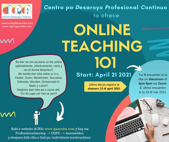 Online Teaching 101 Workshop