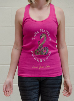 Berry Bella Ribbed Tank Front