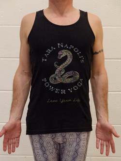 Black/Charcoal Ribbed Tank Front