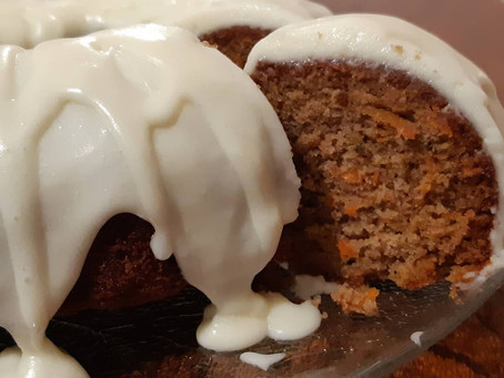 Anyone hungry?? How about some gluten free carrot cake with cream cheese icing!!