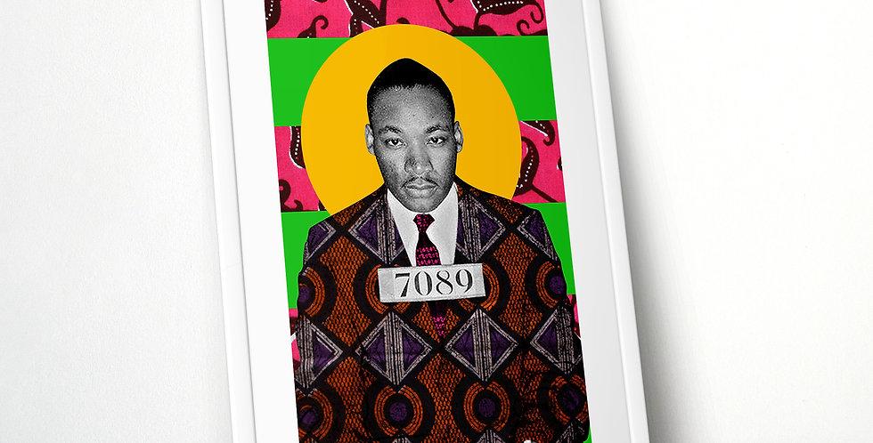 MLKJr Mugshot Limited Edition Print