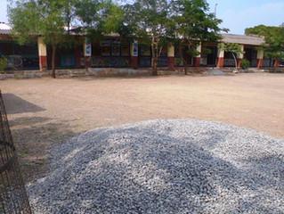 construction wall compound of primary school Savardari