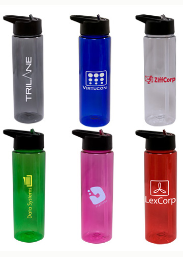 Copolyester Water Bottle Built In Straw BPA Free