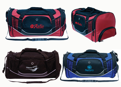 Sports Duffle Bag w Shoe Pouch