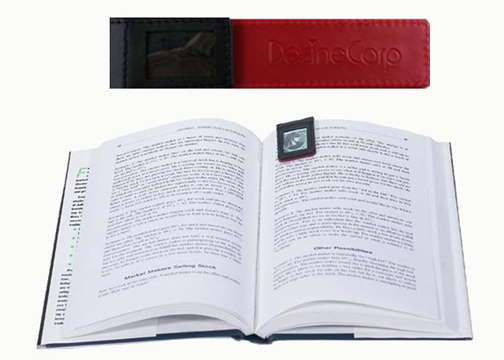 Crestwood Magnetic Leather Bookmark