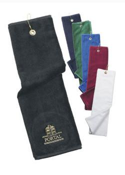 Egyptian Velour Cotton Tri-Fold Golf Towel