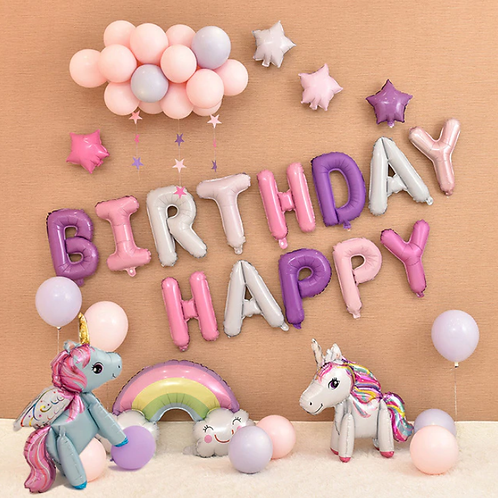 """Набор шаров-букв """"Happy Birthday"""""""