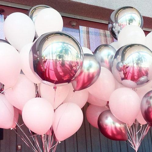 Фонтан розовый