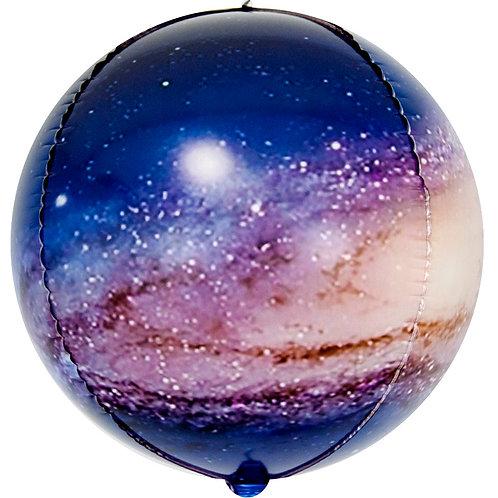 Шар сфера 3D, Млечный путь в космосе