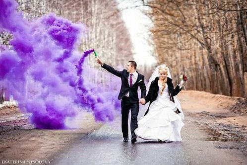 Дым фиолетовый