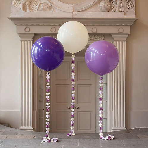 Ball giant 60 cm with a garland