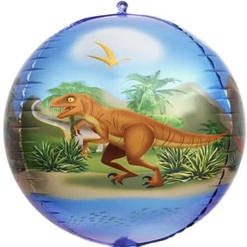 Шар сфера 3D, динозавры