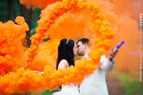 Дым оранжевый