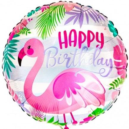 Шар С Днем Рождения (фламинго)