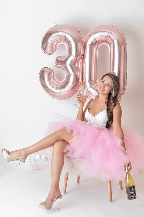Balloons numbers pink