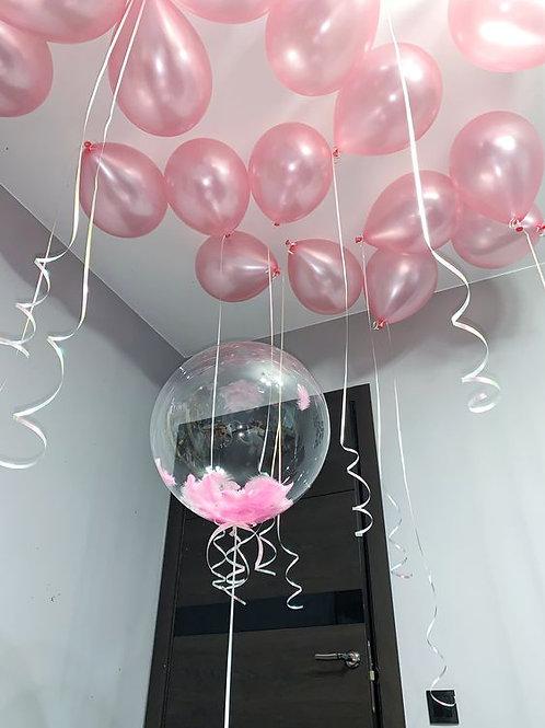 Шары розовый перламутр
