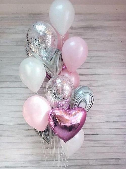 Фонтан белый, розовый, агат