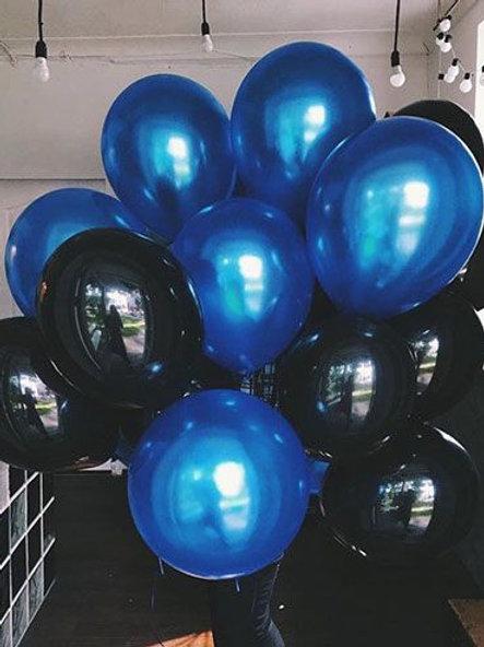 Шары черный и синий металлик