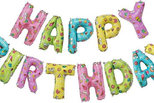 """Набор шаров-букв """"Happy Birthday"""" Веселые картинки"""