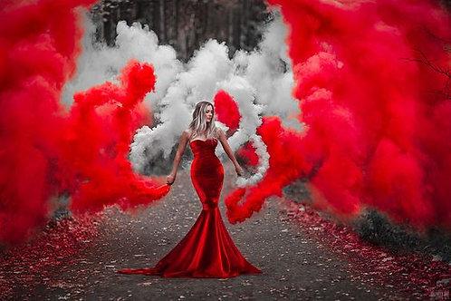 Дым красный