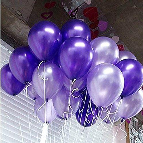 Шары фиолетовый и сиреневый металлик
