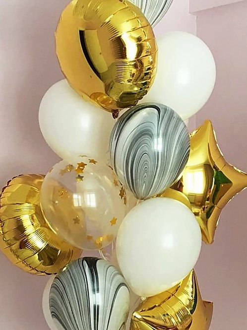 Фонтан золото, белый, агат