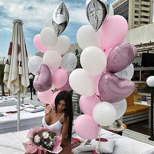 Композиция белая с розовым