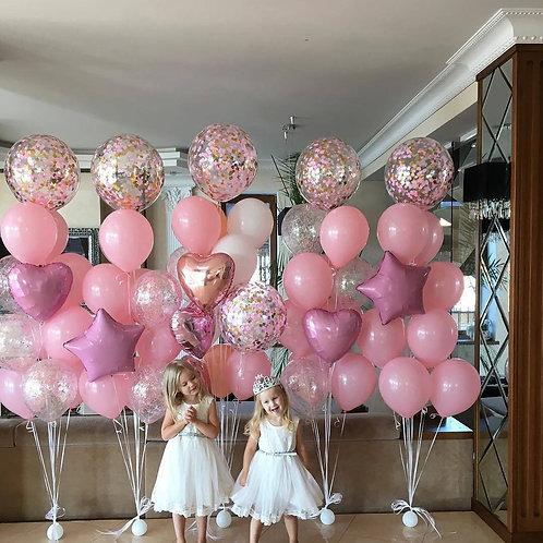 Фонтан розовый с гигантом